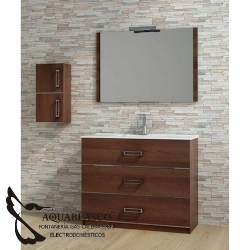 Mueble Baño Diverta 100 Nogal Bellezza.